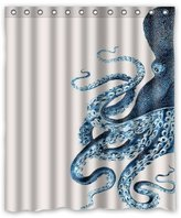 Custom Octopus Steampunk Ocean Shower Curtain - Bathroom Decor (60x72, Octopus 4) by Miss Personality