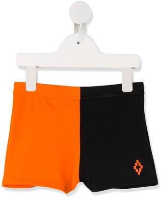 Marcelo Burlon County Of Milan Kids Two-Tone Shorts
