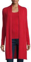 Neiman Marcus Long Cashmere Duster Cardigan, Plus Size