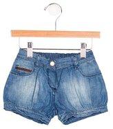 Gucci Girls' Web Denim Shorts