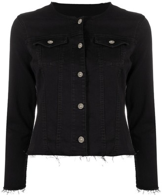 7 For All Mankind Cinched-Waist Denim Jacket