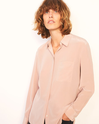 Jigsaw Long Sleeve Silk Shirt
