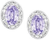 Swarovski Silver-Tone Lavender Christie Oval Earrings
