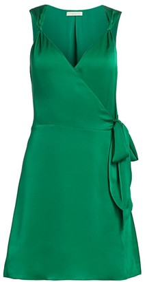 Ramy Brook Ryan Satin Charmeuse Wrap Dress