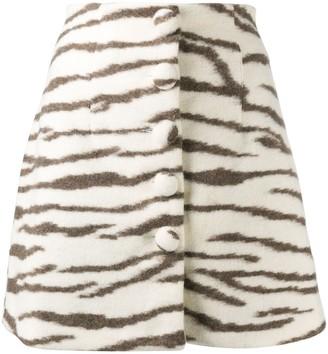 Andamane Zebra-Print Mini Skirt