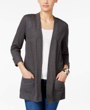 Karen Scott Three-Quarter-Sleeve Cardigan, Created for Macy's
