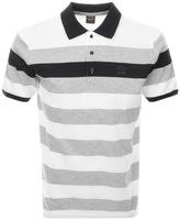 Paul & Shark Paul And Shark Striped Polo T Shirt Grey