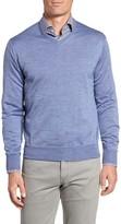 Peter Millar Men's Merino Wool & Silk V-Neck Sweater