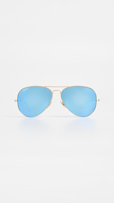 Ray-Ban RB3025 Oversized Classic Aviator Mirrored Sunglasses