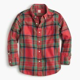 J.Crew Kids' flannel shirt in faded plaid