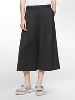 Calvin Klein Platinum Smooth Wool Wide Gaucho Pants