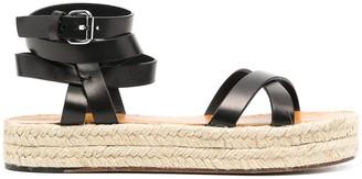 Isabel Marant Leather Espadrille Sandals