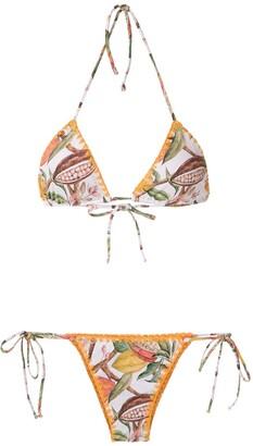 BRIGITTE Cacau printed triangle bikini set