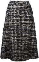 Simone Rocha A-line skirt - women - Cotton/Nylon/Polyester/Wool - 8
