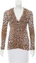 Dolce & Gabbana Leopard Printed Button-Up Cardigan