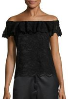 Rebecca Taylor Lace Off-The-Shoulder Top