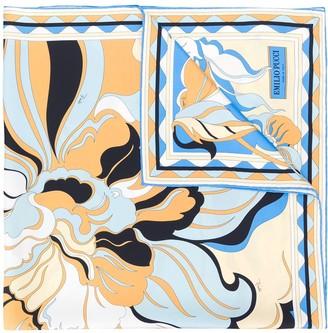 Emilio Pucci Rivera Print Silk-Twill Scarf