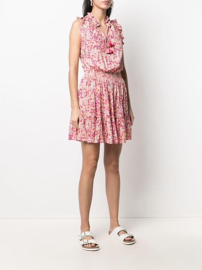 Thumbnail for your product : Poupette St Barth Floral Shift Mini Dress