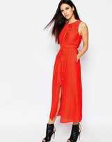 Warehouse Zip Through Midi Dress