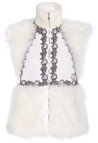 Moncler Gamme Rouge Elizabeth Wool And Cashmere-blend Gilet With Fur