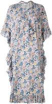 See by Chloe ruffle detail dress - women - Cotton/Linen/Flax - 34
