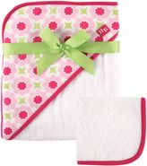 Baby Vision Hudson Baby® Hooded Towel and Washcloth Set in Pink/Lime