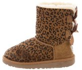 UGG Girls' Leopard Bailey Bow Boots