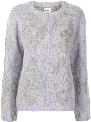 KHAITE Siro argyle intarsia wool jumper