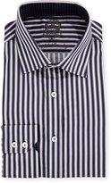English Laundry Striped Long-Sleeve Dress Shirt, Black