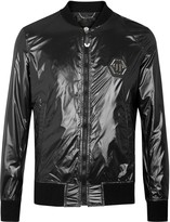 Philipp Plein Black Shell Bomber Jacket