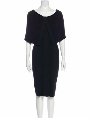 Givenchy Cashmere Knee-Length Dress Black