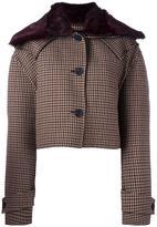 Yang Li cropped jacket - women - Virgin Wool/Polyamide/Viscose/Rabbit Fur - 42
