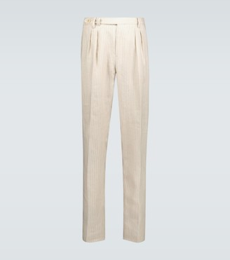 Brunello Cucinelli Pinstriped linen pants