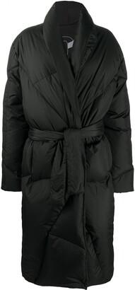 KHRISJOY Belted Padded Coat