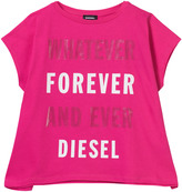 Diesel Pink Whatever Whenever Oversize Tee