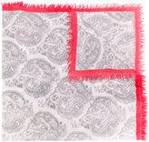Bajra contrast paisley print scarf - women - Silk/Wool - One Size