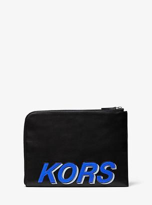 Michael Kors Kors Leather Travel Pouch