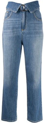 Pinko High Waisted Crop Jeans
