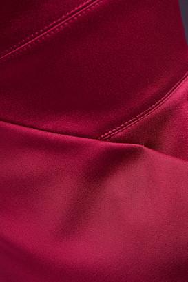 Roland Mouret One-shoulder Pleated Satin Dress