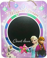 """Disney Countdown to Christmas Chalkboard Wall Sign ~ 9"""" Hanging Wall Decoration with Chalk Frozen)"""