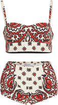 RED Valentino Bandana Print Bra and Panty