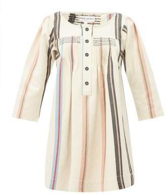 Apiece Apart Benita Striped Cotton Mini Dress - Womens - Cream Multi