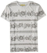 Aeropostale Mens Prince & Fox Hawaiian Stripe Graphic T Shirt Gray