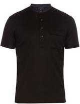 Lanvin Stand-collar cotton-piqué polo shirt