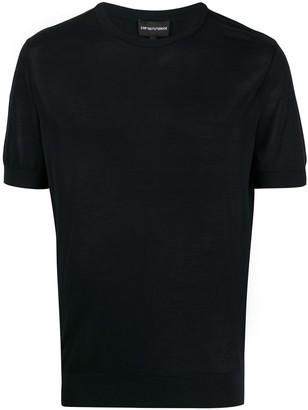 Emporio Armani silk short sleeve T-shirt