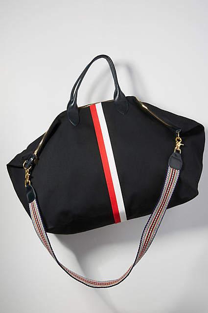 Clare Vivier Waxed Canvas Weekender Bag