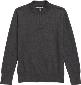 1901 Nordstrom Cotton Blend Quarter Zip Pullover