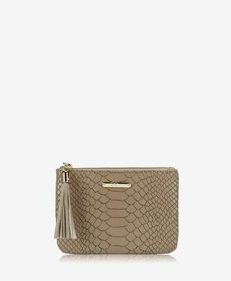 GiGi New York Zip Pouch In Military Embossed Python