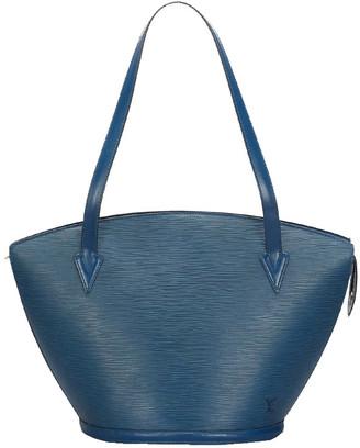 Louis Vuitton Blue Leather Epi Saint Jacques Long Strap GM