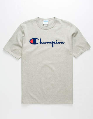 Champion Script Flock Heather Mens T-Shirt